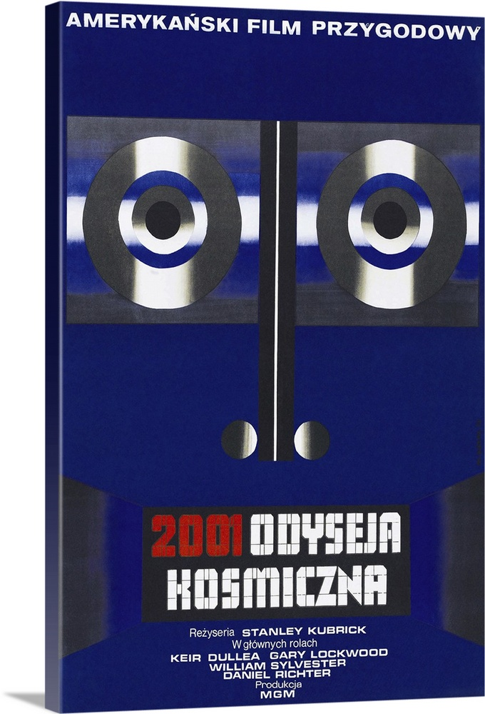 Canvas Kunst Drucken  2001  A Space Odyssey - Vintage Movie Poster (Polish)