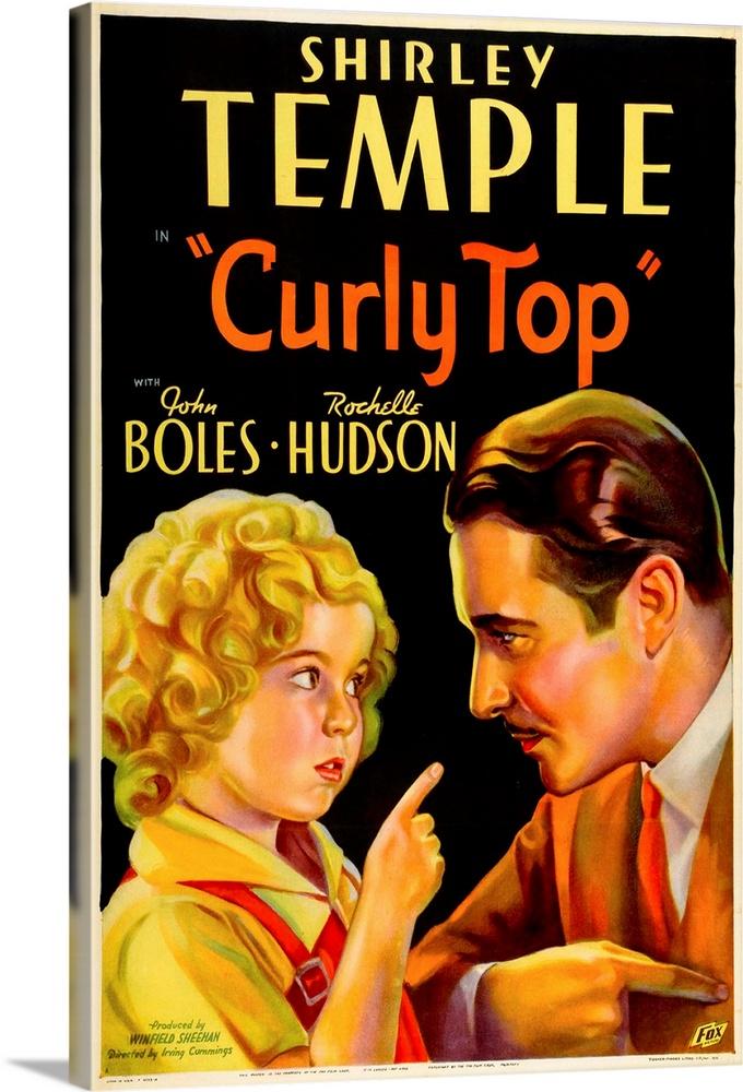 Canvas Kunst Drucken  Curly Top - Vintage Movie Poster