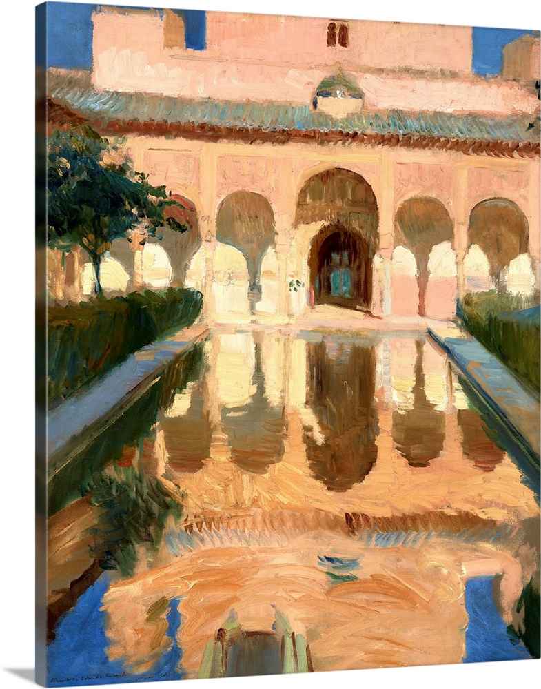 Solid-Faced Canvas Print Wall Art entitled Hall of the Ambassadors, Alhambra,
