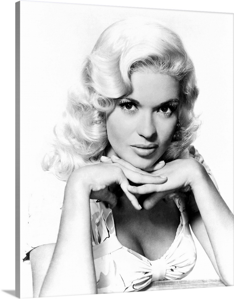 Solid-Faced Canvas Print Wall Art entitled Kiss Them For Me, Jayne Mansfield,
