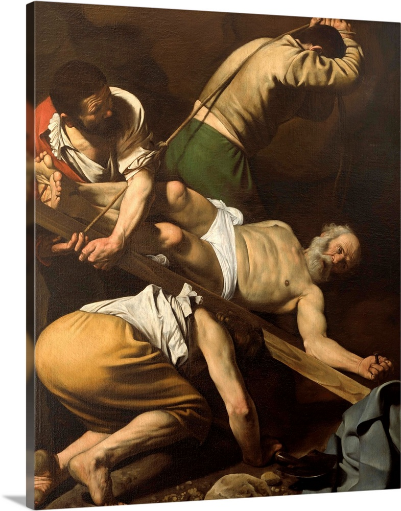 Solid-Faced Canvas Print Wall Art entitled Martyrdom of St. Peter, by