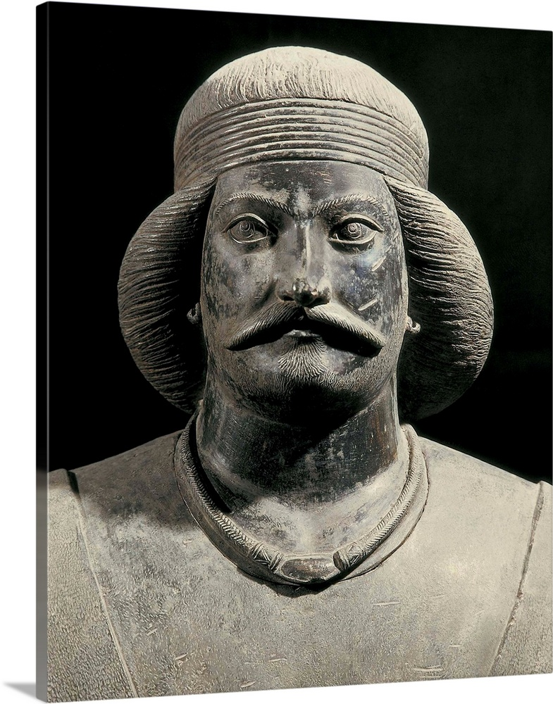 Solid-Faced Canvas Print Wall Art entitled Parthian warrior from Shami. 1st c.