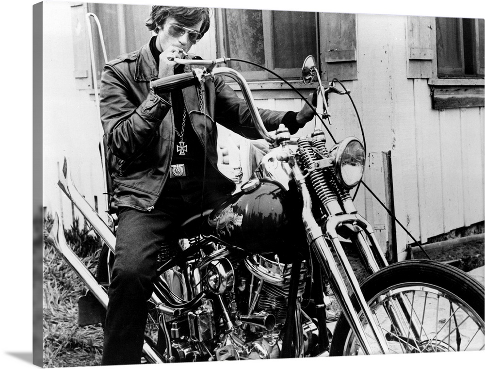 Solid-Faced Canvas Print Wall Art entitled Peter Fonda, The Wild Angels