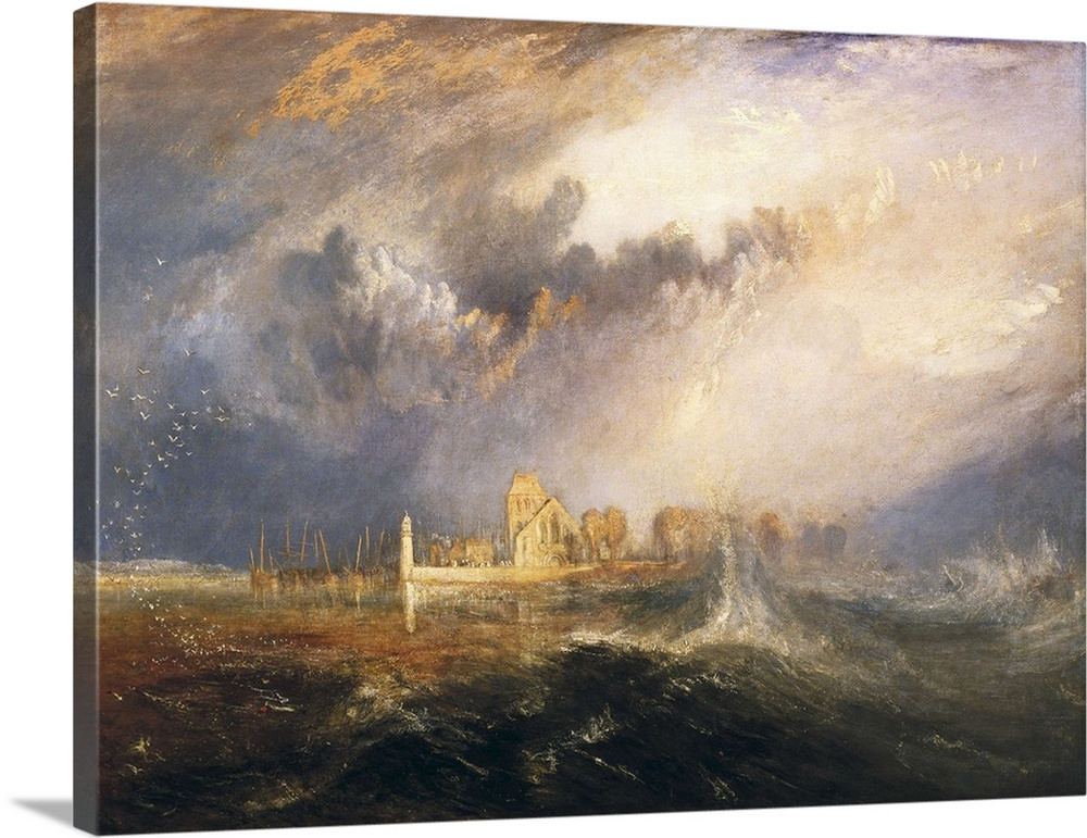 Solid-Faced Canvas Print Wall Art entitled Quillebeuf, Mouth of the Seine