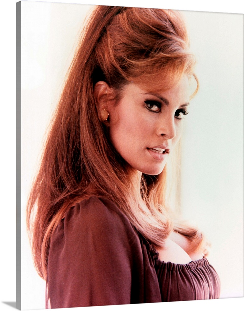 Solid-Faced Canvas Print Wall Art entitled Raquel Welch - Vintage Publicity
