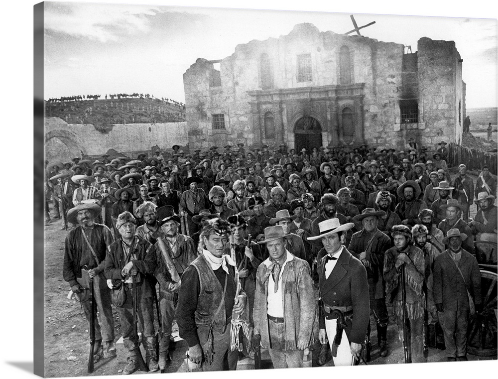 Solid-Faced Canvas Print Wall Art entitled The Alamo - Movie Still