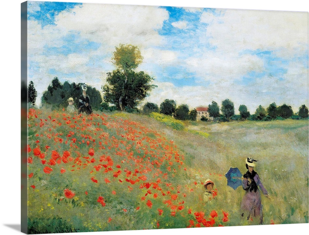 Solid-Faced Canvas Print Wall Art entitled Wild Poppies