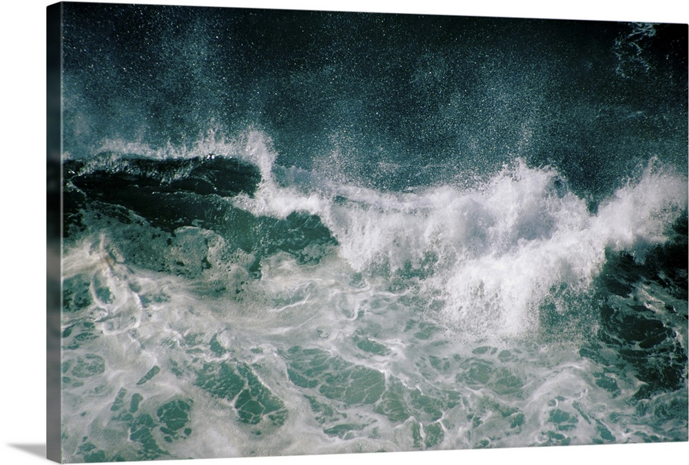 Solid-Faced Canvas Print Wall Art entitled Ocean in storm