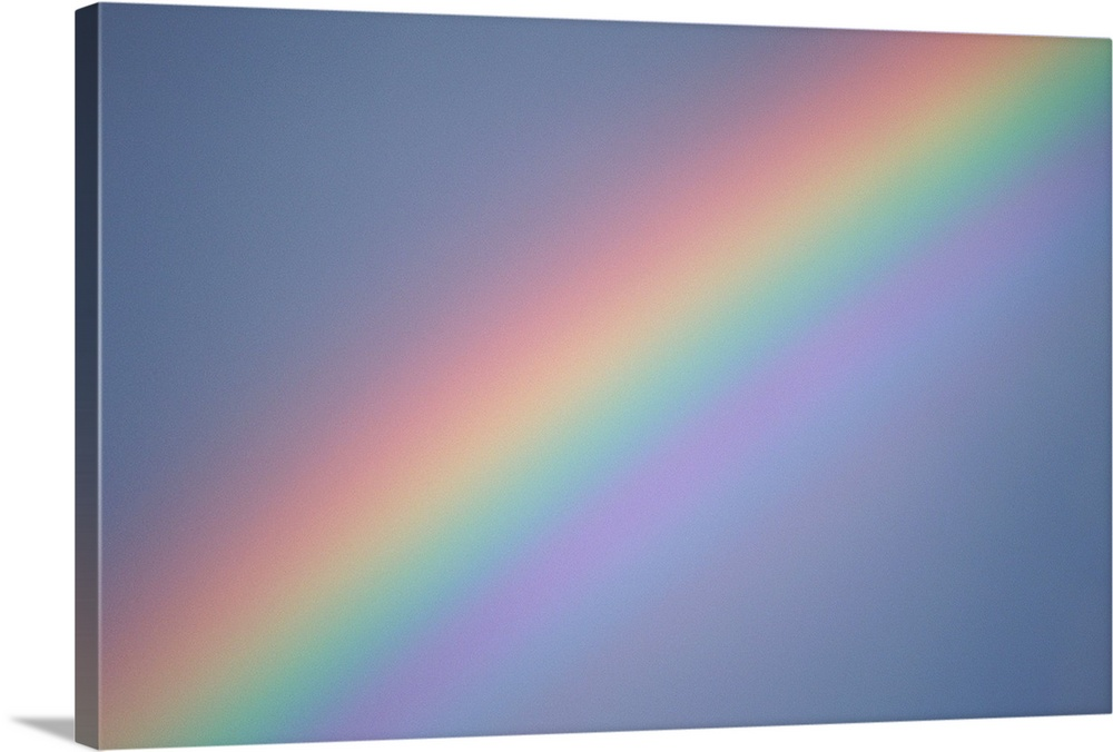 Solid-Faced Canvas Print Wall Art entitled Rainbow in sky