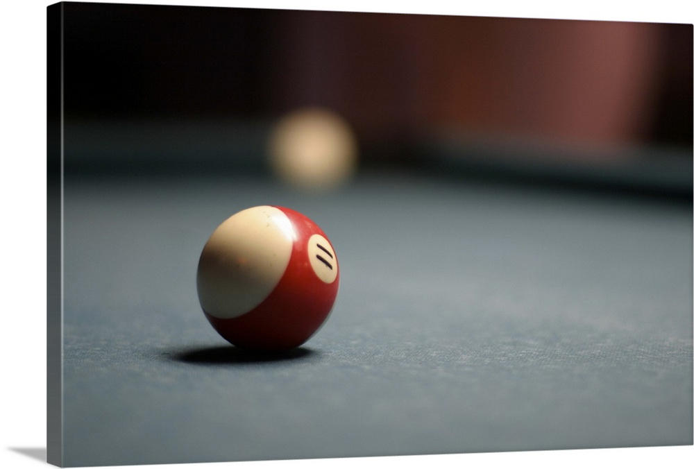 Solid-Faced Canvas drucken wand kunst entitled Snooker ball, San Diego.