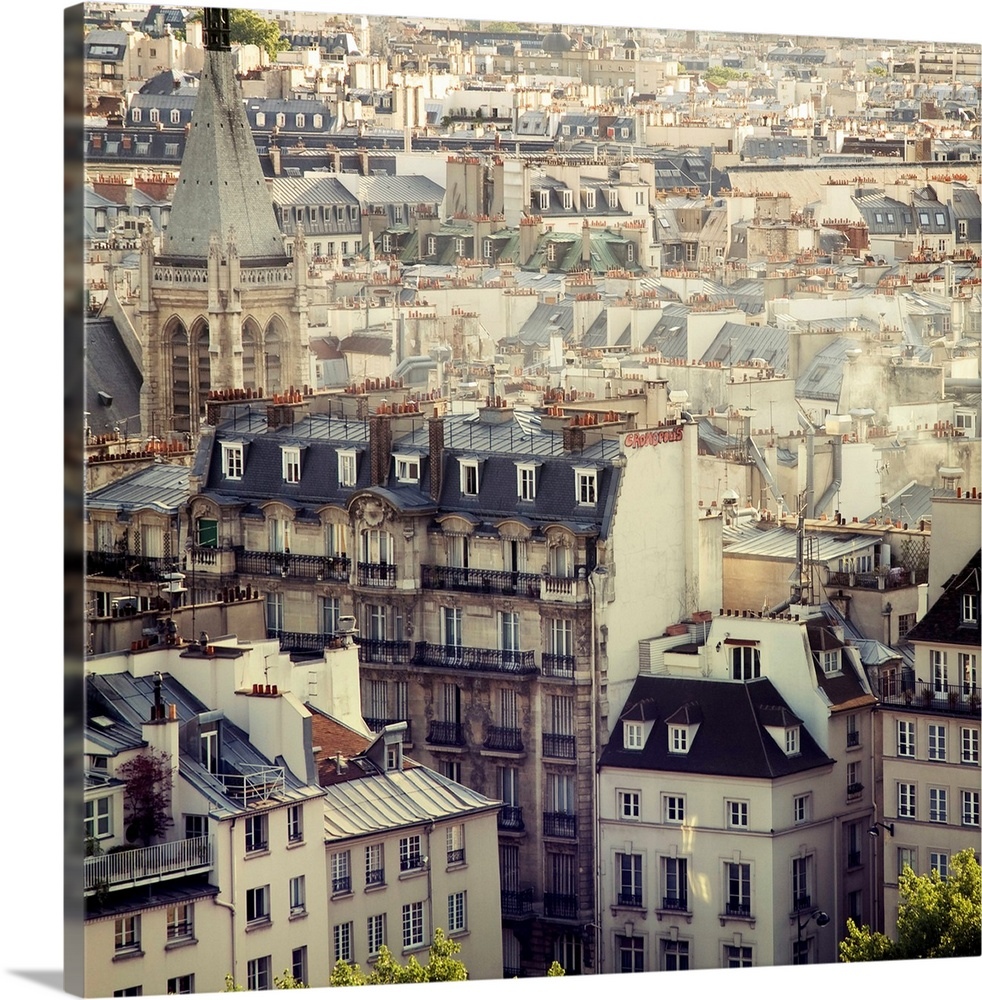 Solid-Faced toile Print Wall Art entitled Paris Calling