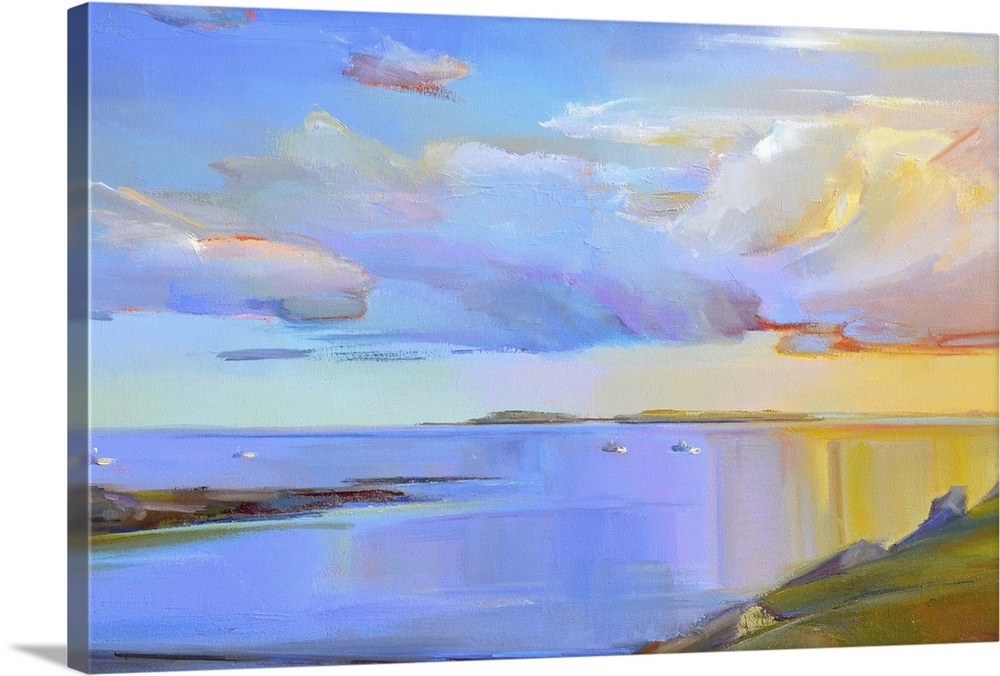 Solid-Faced Canvas drucken wand kunst entitled Summer Cove