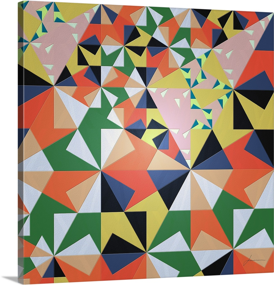 Canvas Kunst Drucken  Beach PKunsty Tile 2