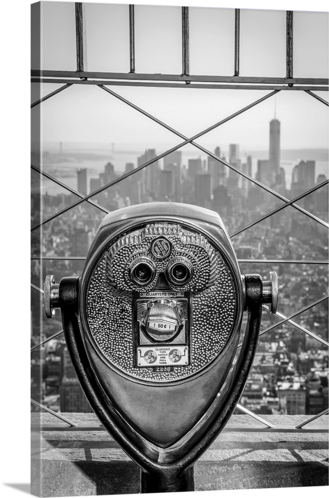 Large Solid-Faced Canvas Print Wall Art Print 24 x 36 entitled New York, Manhattan, Lower Manhattan from Empire State Buil... Solid-Faced Canvas Print entitled New York, Manhattan, Lower Manhattan from Empire State Building.  USA, New York, Manhattan, Lower Manhattan from Empire State Building, Freedom Tower in background.  Multiple sizes available.  Primary colors within this image include Dark Gray, Silver.  Made in USA.  Satisfaction guaranteed.  Archival-quality UV-resistant inks.  Archival inks prevent fading and preserve as much fine detail as possible with no over-saturation or color shifting.  Featuring a proprietary design, our canvases produce the tightest corners without any bubbles, ripples, or bumps and will not warp or sag over time.