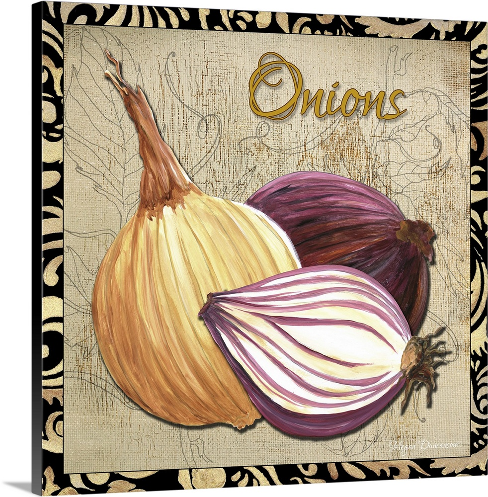 Canvas Kunst Drucken  Vegetables II - Onions