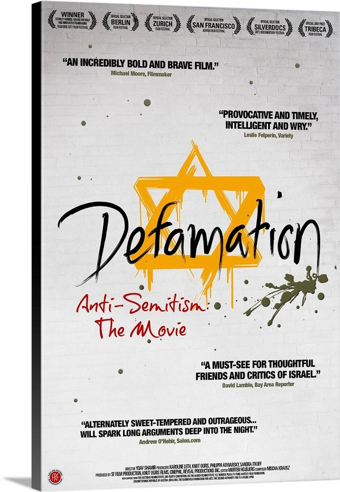 Defamation - Movie Poster  Canvas Art Print