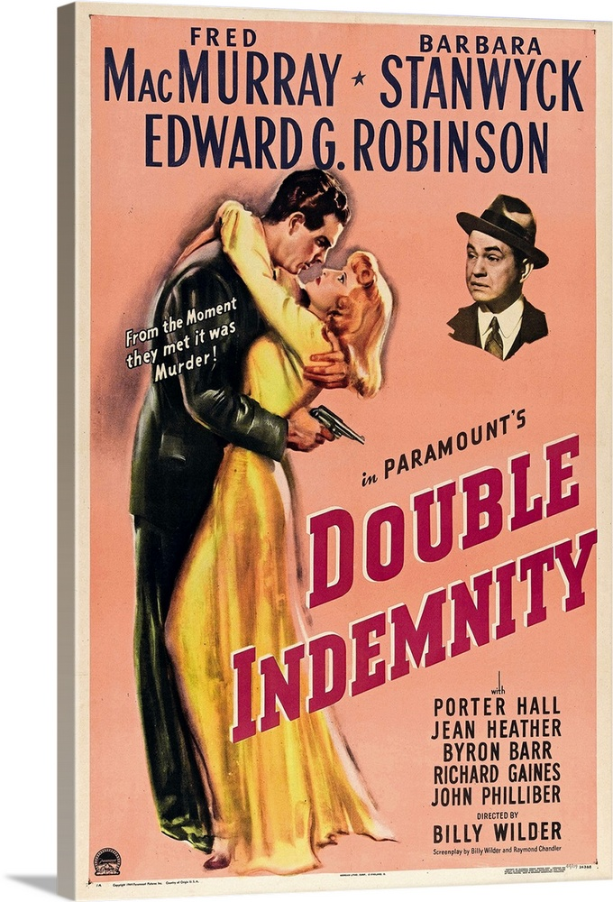 Canvas Kunst Drucken  Double Indemnity (1944)