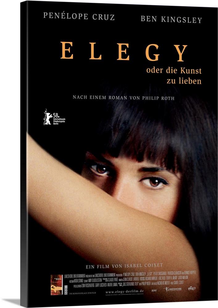 Canvas Kunst Drucken  Elegy - Movie Poster - Swedish