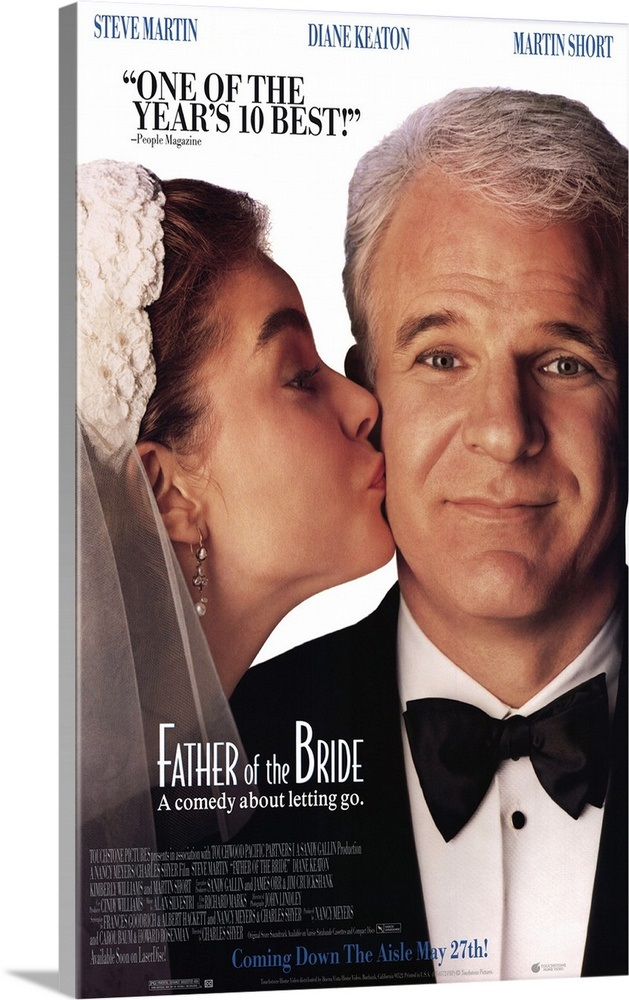 Solid-Faced Canvas Print Wall Art entitled Father of the Bride (1991)