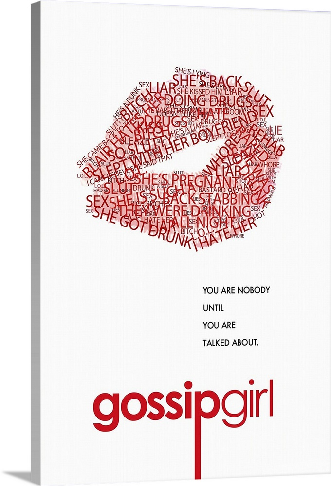 Large Gallery-Wrapped Canvas Wall Art Print 16 x 24 entitled Gossip Girl (TV) (2007) Gallery-Wrapped Canvas entitled Gossip Girl TV 2007.  Welcome to New Yorks Upper East side where the wealthy and connected mingle at benefits and try to deal with their always dramatic love lives not to mention picking colleges. Blair Waldorf is the so-called toast of adolescence in her world she and her friends Kati Farkas and Isabel Coates go to a prep school and fancy parties with their rich parents. Blair is envied by her adversaries because she is thought to have the perfect life not just because of her gorgeous boyfriend Nate Archibald but because shes also planning on getting into her dream collegeYale. With everyone worried about collegeor procrastinating on worrying which everyone seems to be doing and senior year dragging along her seemingly perfect life is interrupted by her ex-best friend the beautiful Serena van der Woodsen coming back into town after getting kicked out of boarding school. Serena comes back into her life and into the eyes of Blairs boy friend. When everything Blair knows starts to fall apart everyone will realize that her life is far from perfect. Will life in the the Upper East Side redeem itself of what its really supposed to be Or will the false facade reveal that the rich have the same problems as the not so rich Jenny and Dan Humphrey if not more. And just maybe Jenny and Dan are all the more happy with their simple not so expectant lives.  Multiple sizes available.  Primary colors within this image include Dark Red Pink Black White.  Made in USA.  Satisfaction guaranteed.  Archival-quality UV-resistant inks.  Canvas frames are built with farmed or reclaimed domestic pine or poplar wood.  Canvases have a UVB protection built in to protect against fading and moisture and are designed to last for over 100 years.