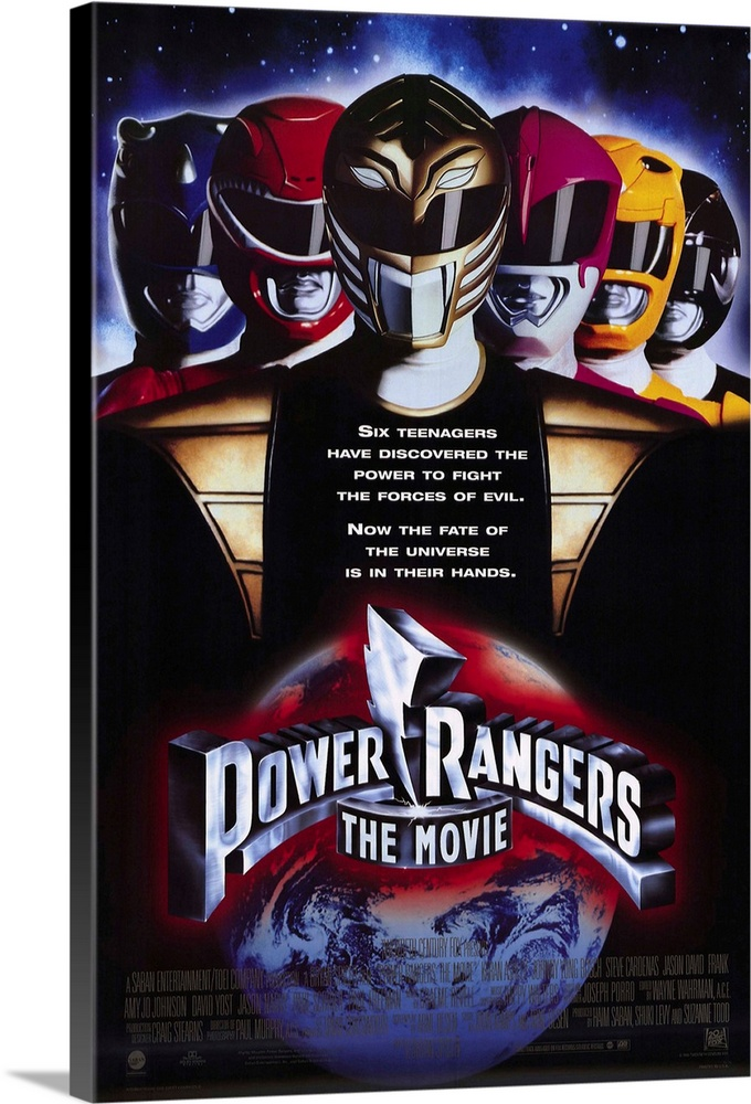 Large Solid-Faced Canvas Print Wall Art Print 20 x 30 entitled Mighty Morphin Power Rangers: The Movie (1995) Solid-Faced Canvas Print entitled Mighty Morphin Power Rangers The Movie 1995.  From the living room onto the big screen, these six surburban teenagers with super powers battle the evil Ivan Ooze to save Earth. Offers more special effects, new Zord animals, more ooze and more growth to the retail toy industry than the small screen could provide. A childs dream come true, but a parents nightmare.  Multiple sizes available.  Primary colors within this image include Orange, Plum, Black, Pale Blue.  Made in the USA.  Satisfaction guaranteed.  Inks used are latex-based and designed to last.  Canvas depth is 1.25 and includes a finished backing with pre-installed hanging hardware.  Featuring a proprietary design, our canvases produce the tightest corners without any bubbles, ripples, or bumps and will not warp or sag over time.
