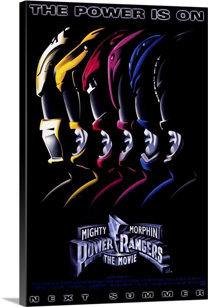 Large Solid-Faced Canvas Print Wall Art Print 20 x 30 entitled Mighty Morphin Power Rangers: The Movie (1995) Solid-Faced Canvas Print entitled Mighty Morphin Power Rangers The Movie 1995.  From the living room onto the big screen, these six surburban teenagers with super powers battle the evil Ivan Ooze to save Earth. Offers more special effects, new Zord animals, more ooze and more growth to the retail toy industry than the small screen could provide. A childs dream come true, but a parents nightmare.  Multiple sizes available.  Primary colors within this image include Dark Red, Light Yellow, Black, White.  Made in the USA.  All products come with a 365 day workmanship guarantee.  Archival-quality UV-resistant inks.  Featuring a proprietary design, our canvases produce the tightest corners without any bubbles, ripples, or bumps and will not warp or sag over time.  Archival inks prevent fading and preserve as much fine detail as possible with no over-saturation or color shifting.