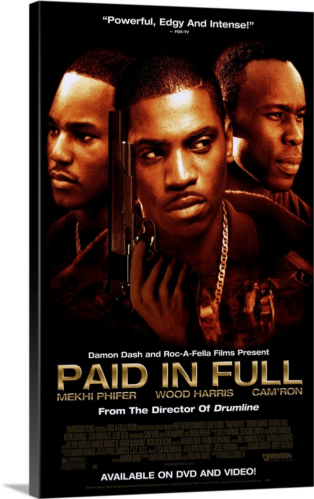 Solid-Faced Canvas Print Wall Art entitled Paid in Full (2002)