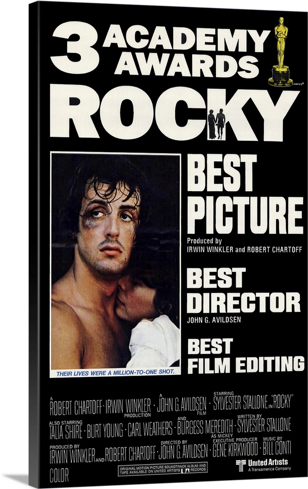 Solid-Faced Canvas Print Wall Art entitled Rocky (1977)
