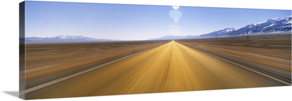 Solid-Faced Canvas Print Wall Art entitled Blaurrot Road NV