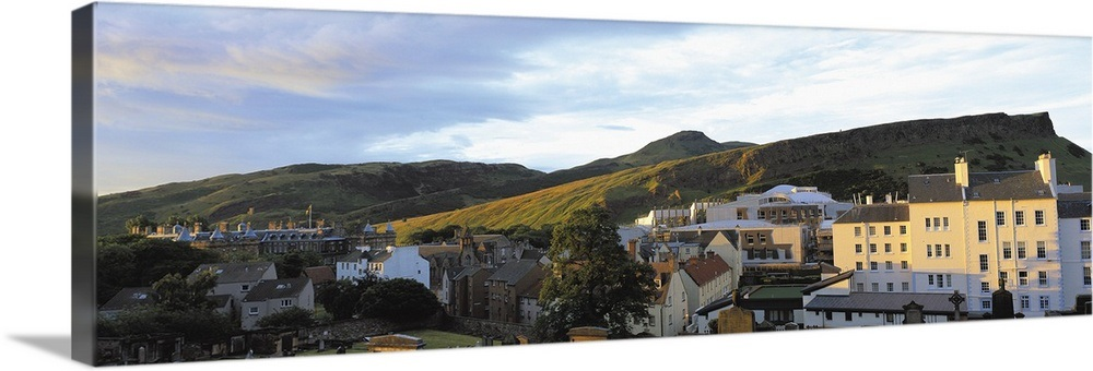 Solid-Faced Canvas Print Wall Art entitled Buildings in a city, Scottish