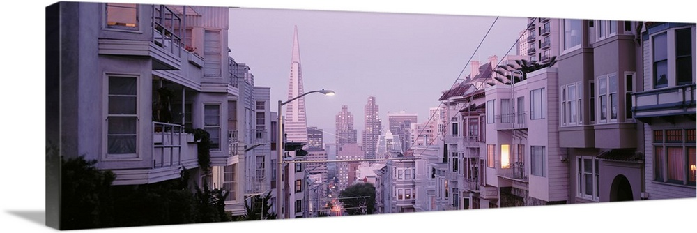 Solid-Faced toile Print Wall Art entitled California, San Francisco, ApartHommest