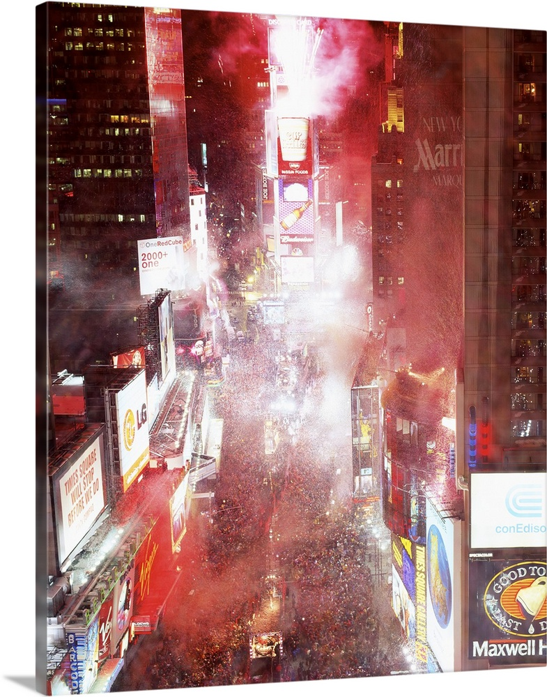 Solid-Faced Canvas Print Wall Art entitled New Years Eve Times Square New York