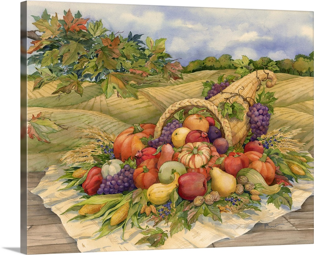 Canvas Kunst Drucken  Harvest Cornucopia