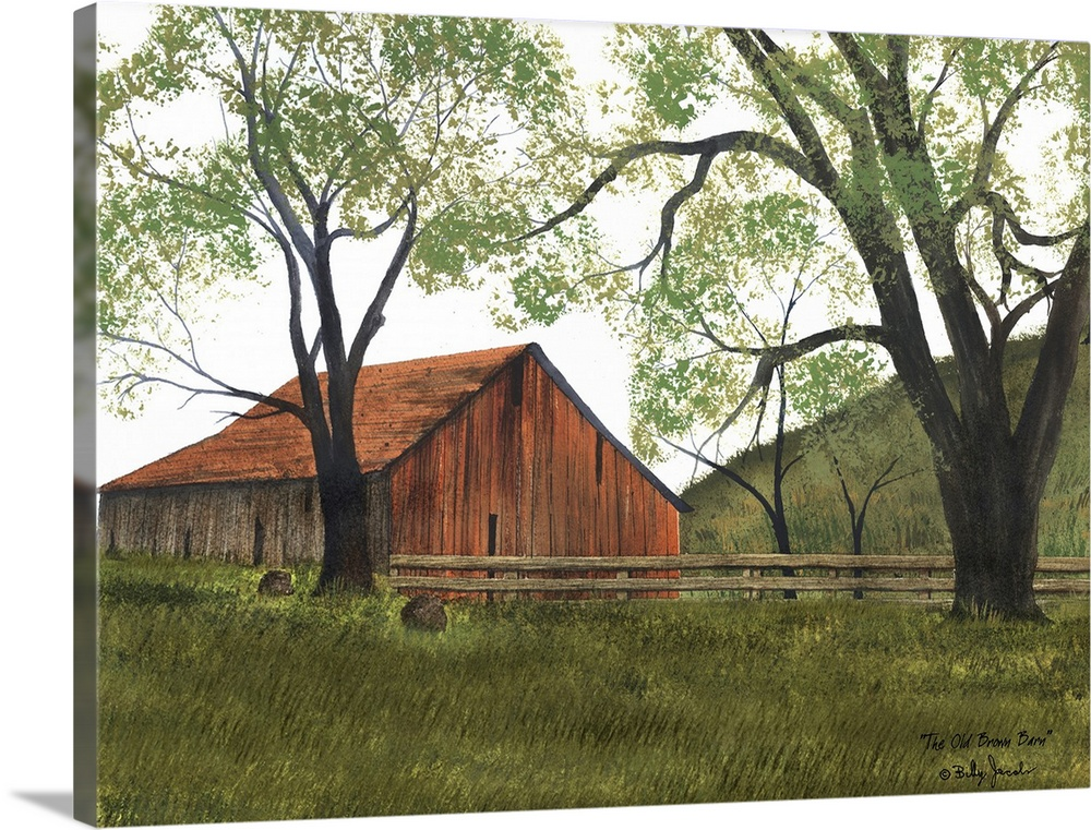 Solid-Faced Canvas Print Wall Art entitled The Old braun Barn