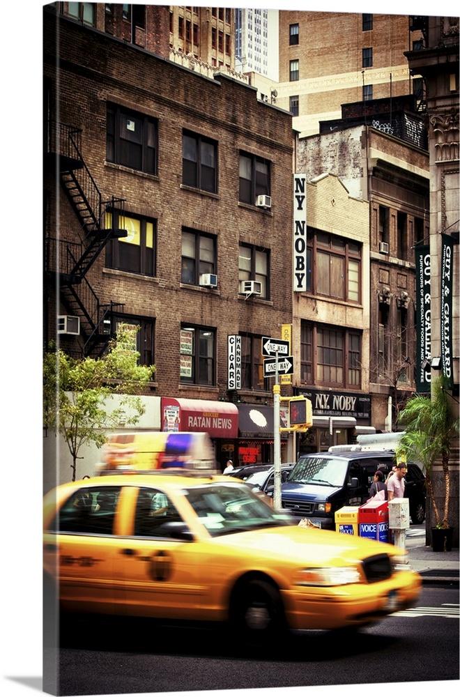 Canvas Kunst Drucken  New York Taxi