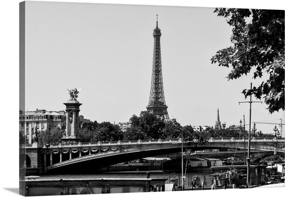 Canvas Kunst Drucken  The Eiffel Tower