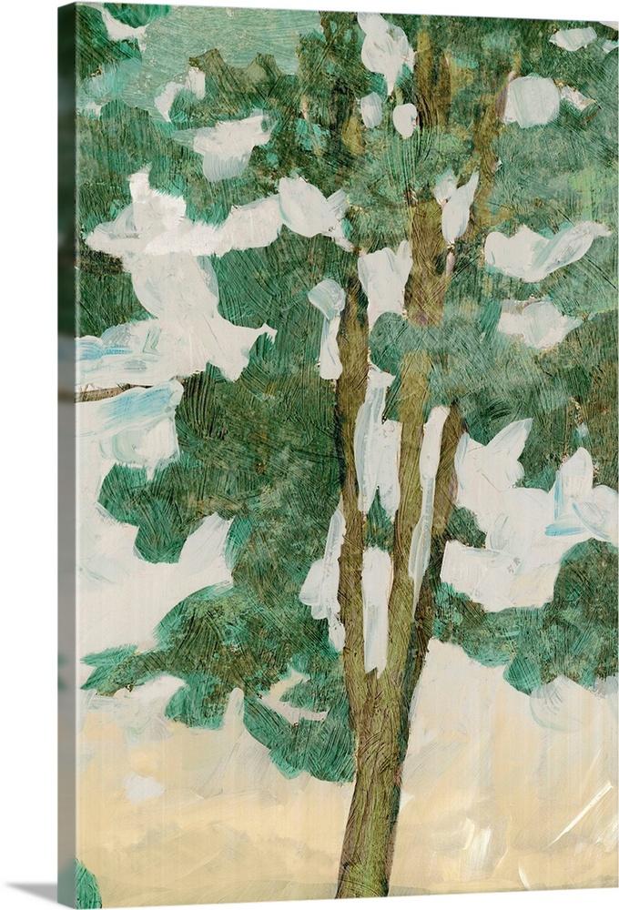 Canvas Kunst Drucken  Grün Tree Line II
