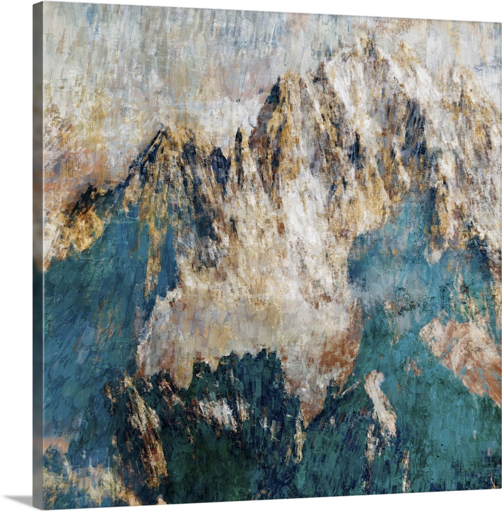 Canvas Kunst Drucken  Mountain II