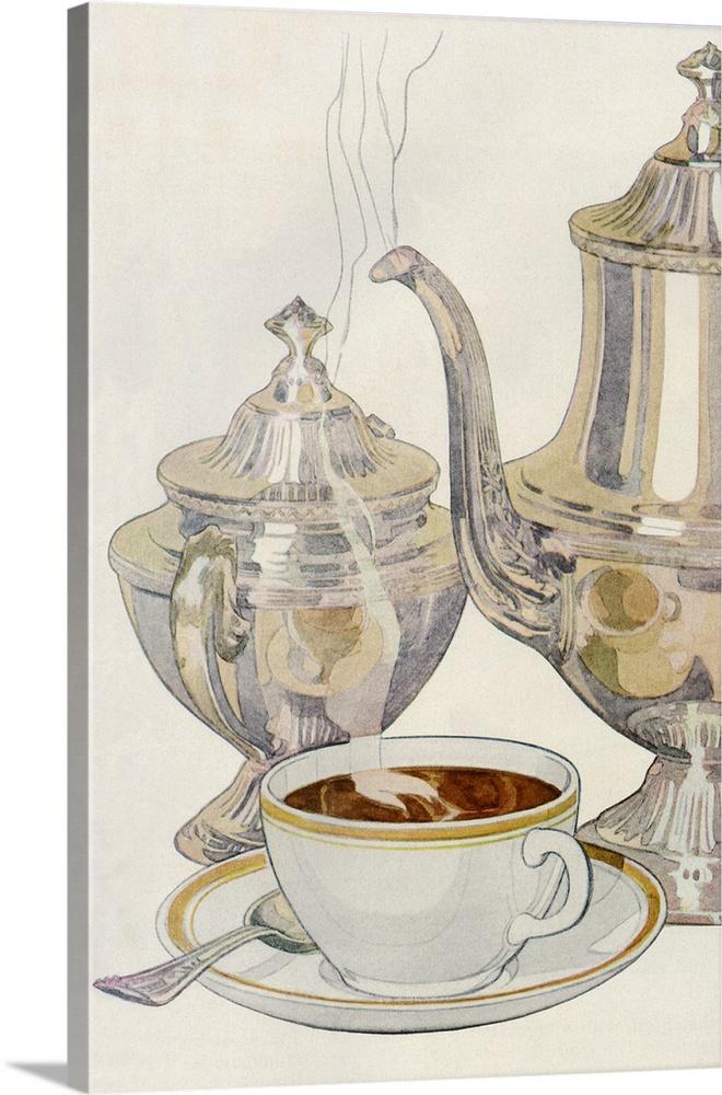 Canvas Kunst Drucken  Coffee Service