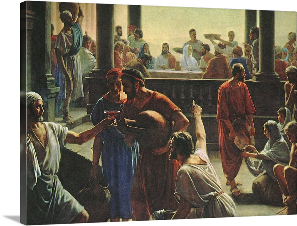 Solid-Faced Canvas Print Wall Art entitled Wedding of Cana