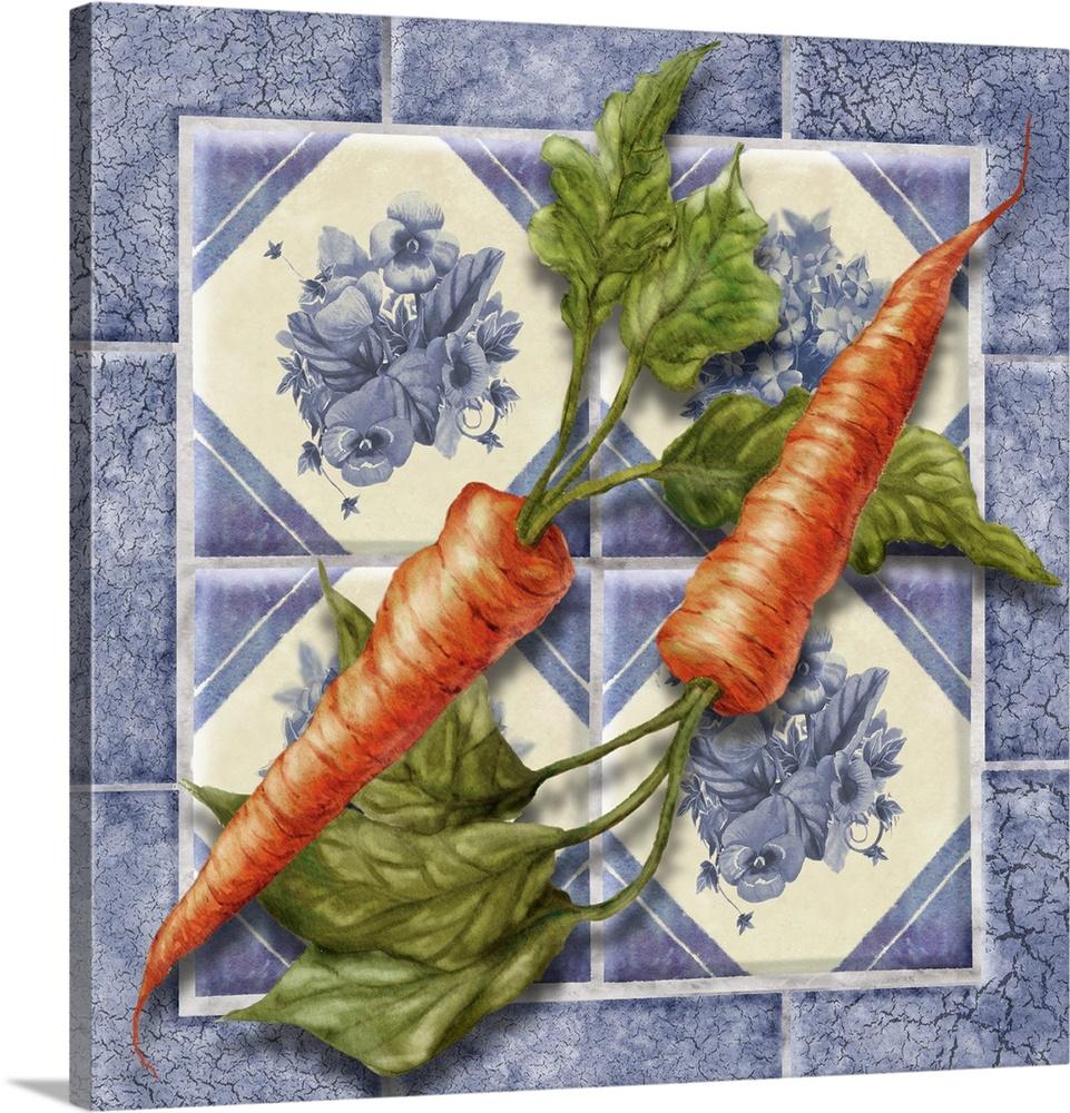 Canvas Kunst Drucken  Carrot Tile