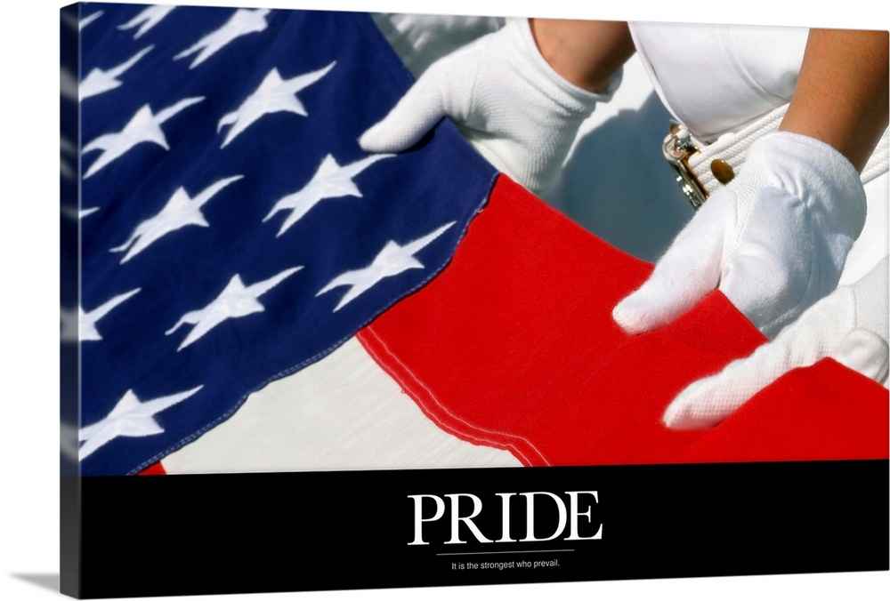 Large Solid-Faced Canvas Print Wall Art Print 36 x 24 entitled Military Poster: Only our individual faith in freedom can k... Solid-Faced Canvas Print entitled Military Poster Only our individual faith in freedom can keep us free.  Multiple sizes available.  Primary colors within this image include Red, Black, White, Muted Blue.  Made in USA.  All products come with a 365 day workmanship guarantee.  Inks used are latex-based and designed to last.  Canvas is handcrafted and made-to-order in the United States using high quality artist-grade canvas.  Canvas depth is 1.25 and includes a finished backing with pre-installed hanging hardware.