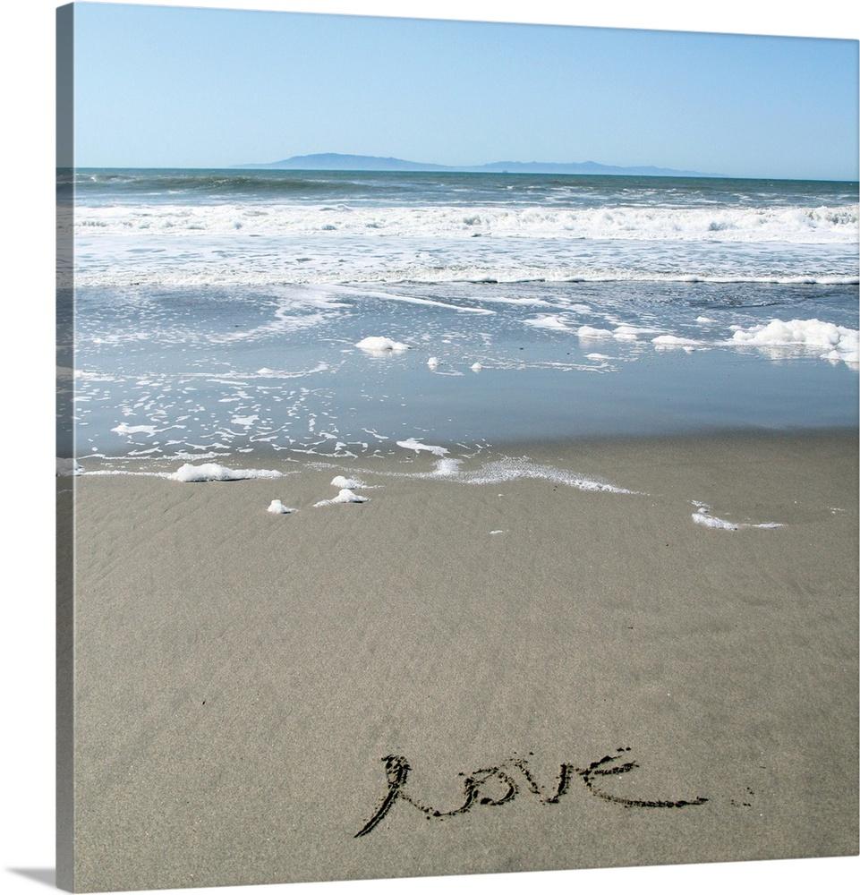 Canvas Kunst Drucken  Beach Love
