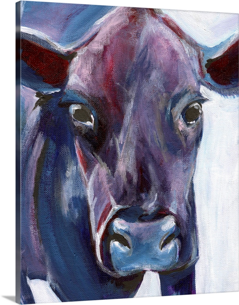 Solid-Faced Canvas Print Wall Art entitled viola Cow
