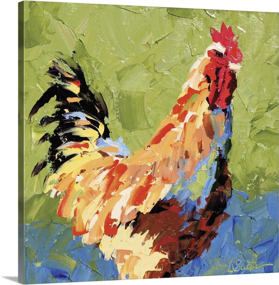 Canvas Kunst Drucken  Rooster II