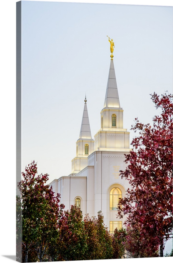 Solid-Faced Canvas Print Wall Art entitled Kansas City Missouri Temple Spires,