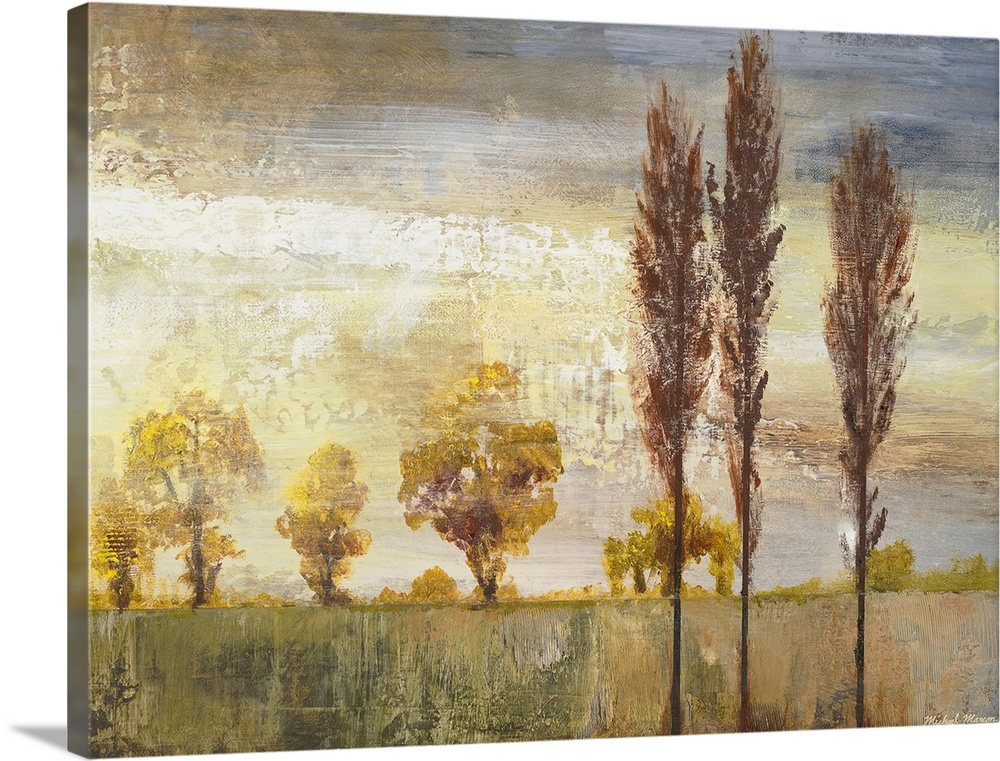 Solid-Faced Canvas drucken wand kunst entitled Standing in the Wind II