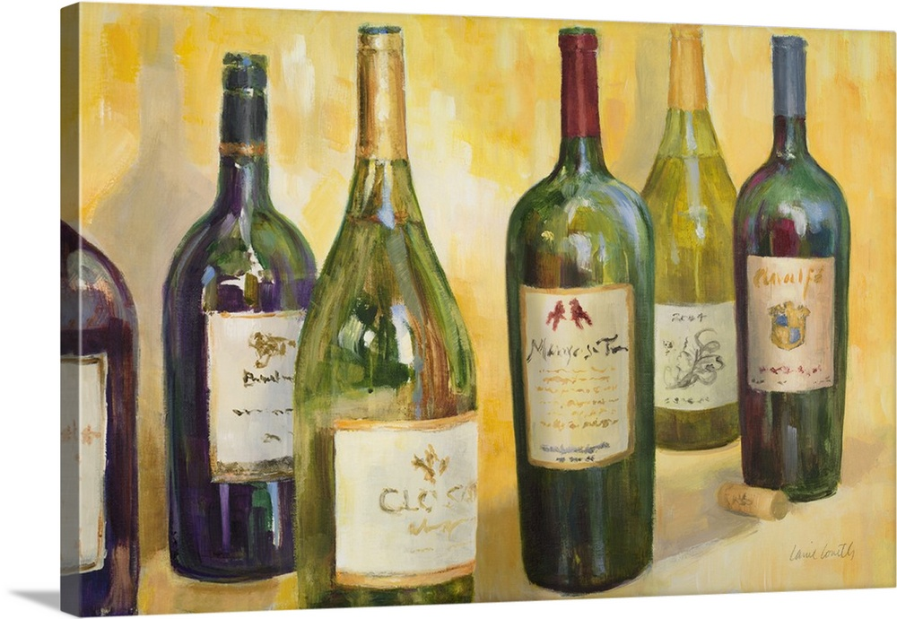 Canvas Kunst Drucken  Time for Wine