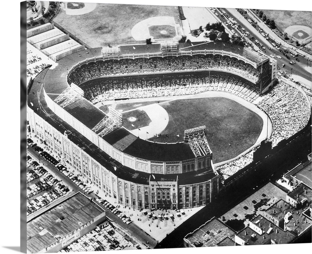 Solid-Faced-Canvas-Print-Wall-Art-entitled-Yankee-Stadium-in-the-Bronx-New-York