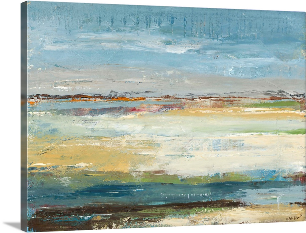 Solid-Faced Canvas Print Wall Art entitled Day at the Beach I